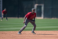 Arizona Diamondbacks shortstop Manny Jefferson (12) during a Spring Training game against Meiji University at Salt River Fields at Talking Stick on March 12, 2018 in Scottsdale, Arizona. (Zachary Lucy/Four Seam Images)