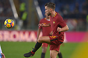 1st December 2017, Stadio Olimpico, Rome, Italy; Serie A football. AS Roma versis Spal;  Kevin Strootman Roma clips the ball inside