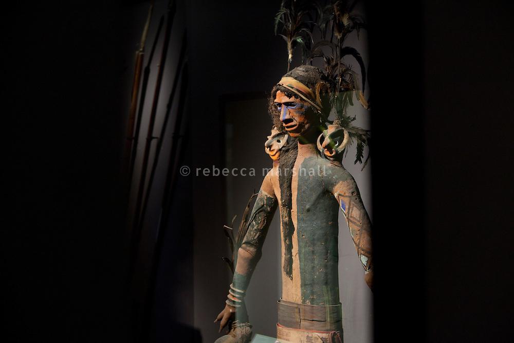 Part of funerary effigy from the Vanuatu archipelago on display at the Musée de la Castre, Le Suquet, Cannes, France, 3 April 2013