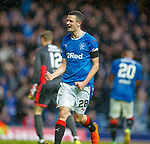 07.04.2018 Rangers v Dundee:<br /> Jamie Murphy celebrates his goal