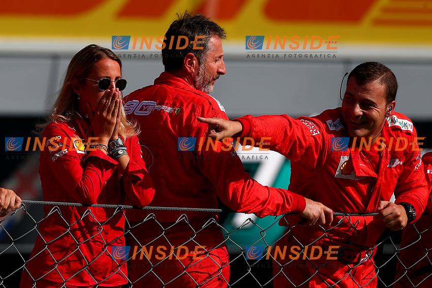 Ferrari mechanics celebrate the victory of Charles LEclerc <br /> Monza 2019, Monza 5-8 September 2019<br /> Monza 08/09/2019 GP Italia <br /> Formula 1 Championship 2019 <br /> Photo Federico Basile / Insidefoto