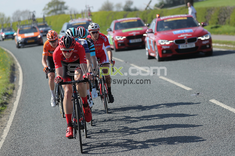 Picture by SWpix.com - 05/05/2018 - Cycling - 2018 Tour de Yorkshire - Stage 3: Richmond to Scarborough - Adam Kenway of Vitus Pro Cycling leads the breakaway