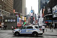 NEW YORK, NY, 03.04.2017 - SEGURANÇA-NEW YORK - Viatura policial é vista na Times Square em New York nesta segunda-feira, 03. Grande movimentação de policiais pode ser notado nas ruas, devido ataque que aconteceu na Rússia nesta manhã. (Foto: William Volcov/Brazil Photo Press)