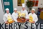 Winner of Culinary Awards at the IT Tralee on Monday Pictured  Siobhan Nash, merit,  butter sculpture, Karen Freeman Donavan, Bronze, butter sculpture, Will King, Lecturer, Mentor, Trisha McCarthy, Silver, butter sculpture