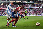 Atletico de Madrid's Victor Machin 'Vitolo' and CD Leganes's Rodrigo Tarin Higon during La Liga match between Atletico de Madrid and CD Leganes at Wanda Metropolitano stadium in Madrid, Spain. March 09, 2019. (ALTERPHOTOS/A. Perez Meca)