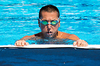 Atsushi Abe of Japan during a training <br /> Synchronised swimming , Synchro<br /> 12/07/2017 <br /> XVII FINA World Championships Aquatics<br /> City Park - Varosliget Lake<br /> Budapest Hungary <br /> Photo Andrea Staccioli/Deepbluemedia/Insidefoto