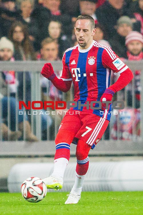 27.02.2015, Allianz Arena, Muenchen, GER, 1.FBL,  FC Bayern Muenchen vs. 1. FC Koeln, im Bild Franck Ribery (FCB #7) <br /> <br />  Foto &copy; nordphoto / Straubmeier