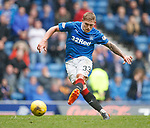 Martyn Waghorn one on one with the keeper and shoots