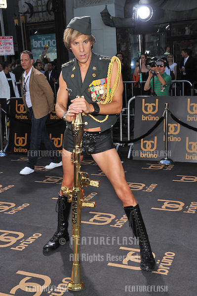 "Sacha Baron Cohen as his character Brüno, at the Los Angeles premiere of his new movie ""Brüno"" at Grauman's Chinese Theatre, Hollywood..June 25, 2009  Los Angeles, CA.Picture: Paul Smith / Featureflash"