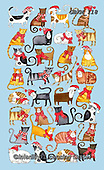 Kate, CHRISTMAS ANIMALS, WEIHNACHTEN TIERE, NAVIDAD ANIMALES, paintings+++++Christmas Jigsaw cats,GBKM118,#xa# ,cat,cats