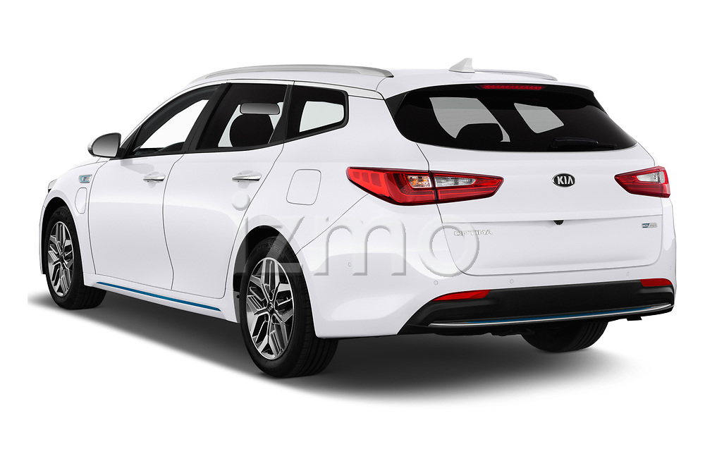 Car pictures of rear three quarter view of a 2019 KIA Optima Sense  5 Door Wagon angular rear