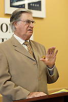Ron Lawless, , President of the Old Brewery Mission speak at Webster Pavillion Inauguration<br /> photo : (c) images Distribution