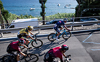 Peloton rushing up the iconic Pogio with Mathieu Van der Poel (NED/Alpecin-Fenix) & Wout Van Aert (BEL/Jumbo-Visma) up front<br /> <br /> 'La Primavera' (Spring) in summer!<br /> 111st Milano-Sanremo 2020 (1.UWT)<br /> 1 day race from Milano to Sanremo (305km)<br /> <br /> the postponed edition > exceptionally held in summer because of the Covid-19 pandemic calendar reshuffle