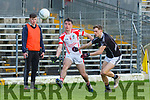 Dylan Ó Geibheannaigh, PS Chorca Dhuibhne gets his pass away during their win over St Francis' in Killarney on Saturday.