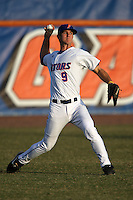 March 9, 2010:  Outfielder Jonathan Pigott (9) of the Florida Gators during a game at McKethan Stadium in Gainesville, FL.  Photo By Mike Janes/Four Seam Images
