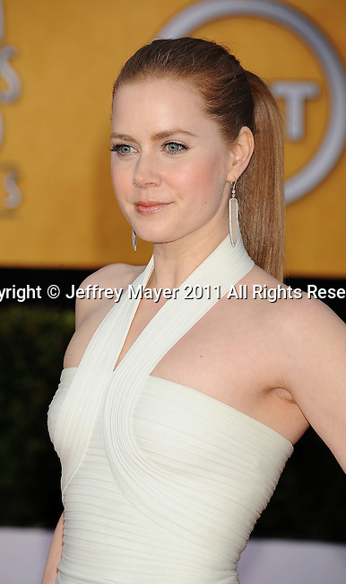 LOS ANGELES, CA - January 30: Amy Adams arrives at the 17th Annual Screen Actors Guild Awards held at The Shrine Auditorium on January 30, 2011 in Los Angeles, California.