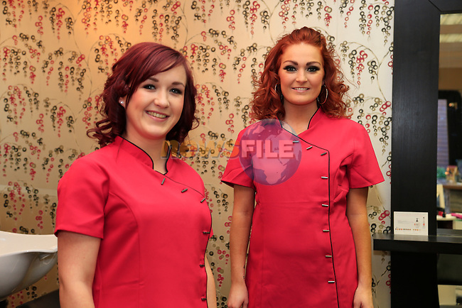FABULOUS SALON staff Rachel Cudden and Niamh McManus<br /> Picture: Fran Caffrey www.newsfile.ie