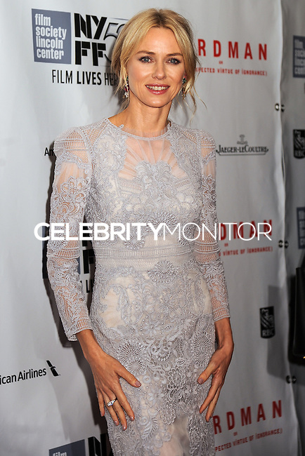 NEW YORK CITY, NY, USA - OCTOBER 11: Naomi Watts arrives at the 52nd New York Film Festival - Closing Night Gala Presentation Of 'Birdman Or The Unexpected Virtue Of Ignorance' held at Alice Tully Hall on October 11, 2014 in New York City, New York, United States. (Photo by Celebrity Monitor)