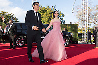Sam Esmail and Emmy Rossum attend the 76th Annual Golden Globe Awards at the Beverly Hilton in Beverly Hills, CA on Sunday, January 6, 2019.<br /> *Editorial Use Only*<br /> CAP/PLF/HFPA<br /> Image supplied by Capital Pictures