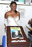 "Audra McDonald backstage at ""Lady Day At Emerson's Bar And Grill"" celebrating 100  Broadway Performances  at Circle in the Square on July 2, 2014 in New York City."