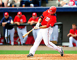 1 March 2011: Washington Nationals' infielder Danny Espinosa hits a 2-run homer during a Spring Training game against the New York Mets at Space Coast Stadium in Viera, Florida. The Nationals defeated the Mets 5-3 in Grapefruit League action. Mandatory Credit: Ed Wolfstein Photo