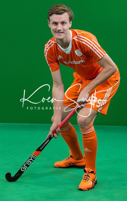 DEN BOSCH - HIDDE TURKSTRA . Nederlands Hockeyteam  voor nieuwe platform Hockey.nl.    FOTO KOEN SUYK