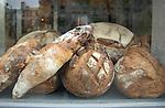 Bread in shop window, Paris.