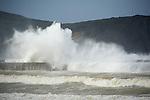 tormenta en el Mar Cantábrico..