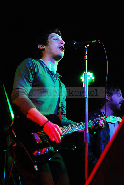 Lead singer of Ingram Hill Justin Moore, performing for the sold out crowd at Buster's Backroom & Billiards on Saturday November 10, 2010. Photo by Ryan Buckler | Staff