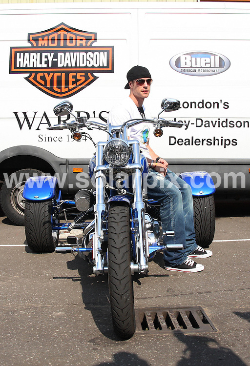 **ALL ROUND PICTURES FROM SOLARPIX.COM**.**WORLDWIDE SYNDICATION RIGHTS**.The Harley Davidson Charity Bike Ride at Warr's Harley Davidson Store in Kings Road, London, UK. 9 August 2009..This pic: Wayne Bridge..JOB REF: 9723 LNJ     DATE: 09_08_2009.**MUST CREDIT SOLARPIX.COM OR DOUBLE FEE WILL BE CHARGED**.**MUST NOTIFY SOLARPIX OF ONLINE USAGE**.**CALL US ON: +34 952 811 768 or LOW RATE FROM UK 0844 617 7637**