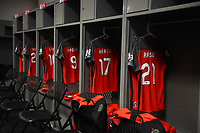 Orlando, FL - Saturday October 14, 2017: Portland Thorns FC locker room during the NWSL Championship match between the North Carolina Courage and the Portland Thorns FC at Orlando City Stadium.