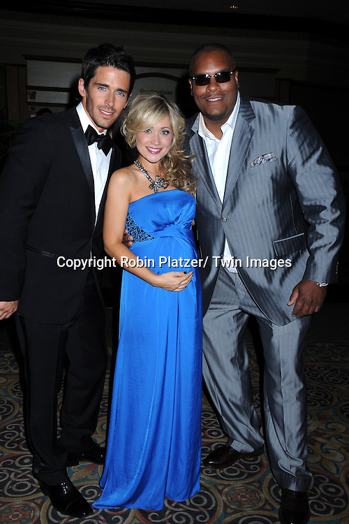 Brandon Beemer, Marcy Rylan and Sean Ringgold arriving at the 38th Annual Daytime Emmy Awards After Party on June 19, 2011 at The Las Vegas Hilton in Las Vegas Nevada.
