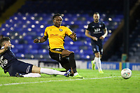 Shawn McClousky of Newport County makes no mistake and buries the ball for the first goal during Southend United vs Newport County, Caraboa Cup Football at Roots Hall on 8th August 2017