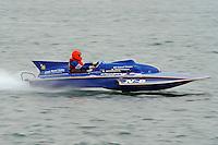 "Tom & Jac Bertolini, N-8 ""Country Boy"", 1971 Lauterbach 225 class hydroplane..10-12 July, 2009, 100th Gold Cup, Detroit River, Detroit, MI USA..©2009 F.Peirce Williams, USA."
