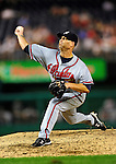 24 September 2010: Atlanta Braves pitcher Tim Hudson in action against the Washington Nationals at Nationals Park in Washington, DC. The Nationals defeated the Braves 8-3 to take the first game of their 3-game series. Mandatory Credit: Ed Wolfstein Photo