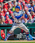 5 April 2018: New York Mets outfielder Brandon Nimmo at bat against the Washington Nationals during the Nationals' Home Opener at Nationals Park in Washington, DC. The Mets defeated the Nationals 8-2 in the first game of their 3-game series. Mandatory Credit: Ed Wolfstein Photo *** RAW (NEF) Image File Available ***