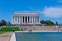 Washington DC, Lincoln Memorial, reflecting Pond, Nations Capital, Cherry Blossom trees,