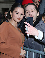 NEW YORK, NY- January 13: Selena Gomez seen exiting Live with Kelly & Ryan promoting Dolittle on January 13, 2020 in New York City. Credit: RW/MediaPunch<br /> CAP/MPI/EN<br /> ©EN/MPI/Capital Pictures