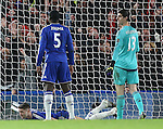 Chelsea's Thibaut Courtois looks on dejected after Bournemouth's opening goal<br /> <br /> Barclays Premier League - Chelsea v AFC Bournemouth - Stamford Bridge - England - 5th December 2015 - Picture David Klein/Sportimage