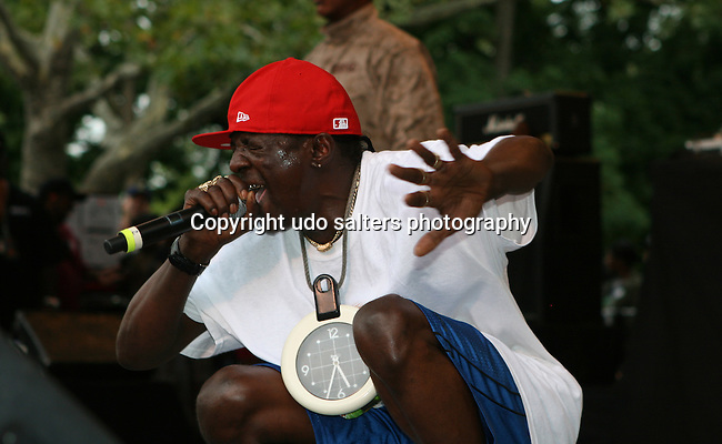 Flavor Flav of Public Enemy  Performs at Central Park Summer Stage: DJ Kool Herc, Blitz the Ambassador and Public Enemy, NY 8/17/10