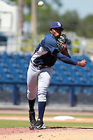 Tampa Bay Rays minor league pitcher Alexander Colome (96) during an Instructional League game vs. the Minnesota Twins at Charlotte Sports Park in Port Charlotte, Florida;  October 5, 2010.  Photo By Mike Janes/Four Seam Images