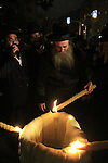 Israel, Lag B'Omer holiday in Tel Aviv, the Rabbi lights the fire
