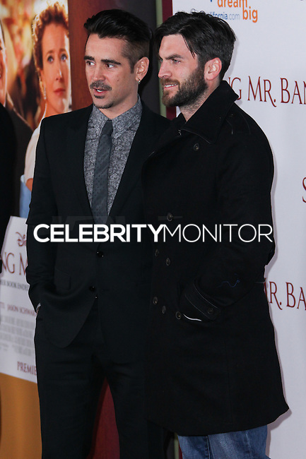 "BURBANK, CA - DECEMBER 09: Colin Farrell, Wes Bentley arriving at the U.S. Premiere Of Disney's ""Saving Mr. Banks"" held at Walt Disney Studios on December 9, 2013 in Burbank, California. (Photo by Xavier Collin/Celebrity Monitor)"
