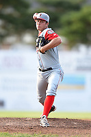 Lowell Spinners pitcher Kevin McAvoy (51) delivers a pitch during a game against the Batavia Muckdogs on July 18, 2014 at Dwyer Stadium in Batavia, New York.  Lowell defeated Batavia 11-2.  (Mike Janes/Four Seam Images)