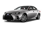 Stock pictures of low aggressive front three quarter view of 2017 Lexus IS F-Sport-Line 4 Door Sedan Low Aggressive