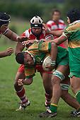 Kolo Vea gets scragged by Reuben Lava.Counties Manukau Premier Club Rugby game between Drury & Karaka played at the Drury Domain on Saturday April 26th, 2008..Karak won the game 30 -6 after leading 8 -3 at halftime.