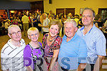 Brendan and Patricia Whealan from Rathmore, Ann Miller from Castleisland, Bertie Enright from Lyracrompane and Colin Miller from Castleisland enjoying the charity ceili held in Fr Casey's Abbeyfeale last Saturday night in aid of the Irish Cancer Society