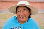 Woman, Ciudad de Piedra, Andes, western Bolivia