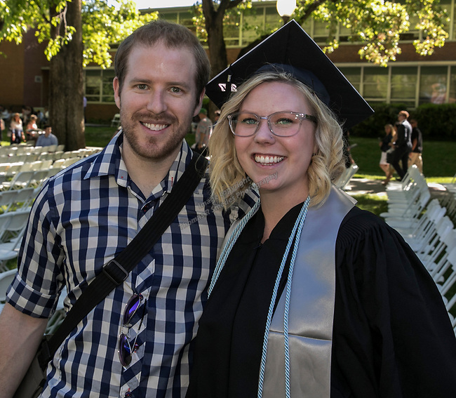 Mike Whitefielde and Fallon Kimball during the University of Nevada College of Agriculture, Biotechnology & Natural Resources and College of Education graduation ceremony on Friday evening, May 19, 2017.