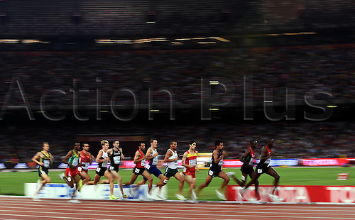 27.08.2015. Beijing, China.  Athletes compete during the mens 1500m semifinal at the 2015 IAAF World Championships at the Birds Nest National Stadium in Beijing, capital of China, Aug. 28, 2015.